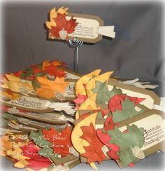 Fall tags by scrapaholicbond26 - Cards and Paper Crafts at Splitcoaststampers