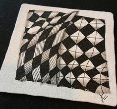 Zentangle Pattern of the Week is Knightsbridge.