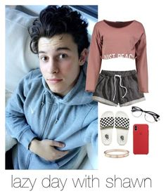 """""""shawn mendes"""" by strangerprefrences ❤ liked on Polyvore featuring H&M, Boohoo, Vans and Cartier"""