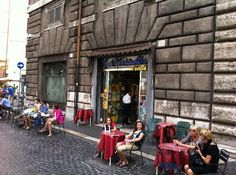 Sant'Eustachio il Caffe  Piazza Sant'Eustachio 82, 00186 Rome, Italy  39 06 68802048  Best coffee in Rome. Near Pantheon and Piazza Navano. Pay for coffee and stand at the bar with the locals.