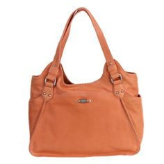 @Overstock - A lovely leather construction highlights this coral handbag from Perlina. Attractive silvertone hardware, an animal print lining and spacious pockets finish this hobo handbag.http://www.overstock.com/Clothing-Shoes/Perlina-Claire-Coral-Leather-Tote-Handbag/6570040/product.html?CID=214117 $158.79