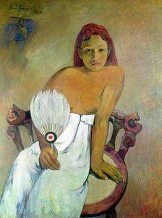 Paul Gauguin - Girl With Fan