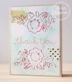 Thank You card by Kalyn Kepner for Paper Smooches - Adorable Array die, Delightful Greetings