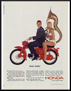 Honda motor bike print advertisement. #honda