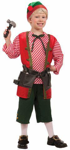 Toy Maker Elf Child Costume