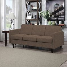 Shop for Portfolio Luca Chocolate Brown Linen SoFast Sofa . Get free shipping at Overstock.com - Your Online Furniture Outlet Store! Get 5% in rewards with Club O!
