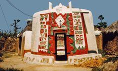 Hausa architecture. Kano Northern Nigeria.