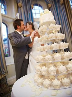 White Wedding -Nottingham, – Famous Last Words White Wedding Cupcakes, Cupcake Tower Wedding, 3 Tier Wedding Cakes, Wedding Cake Flavors, Wedding Cake Rustic, Wedding Cake Decorations, Wedding Cakes With Flowers, Elegant Wedding Cakes, Wedding Cake Designs