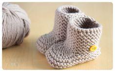 Botitas de bebé: Musgo Baby Booties