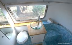 Airstream bathroom makeover