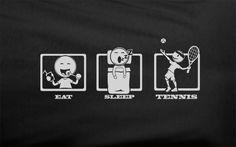 Trendy Pop Culture Eat Sleep Tennis Rafa Nadal Djokovic prince babolat wilson Track Tshirt Tee T-Shirt Ladies Youth Adult Unisex
