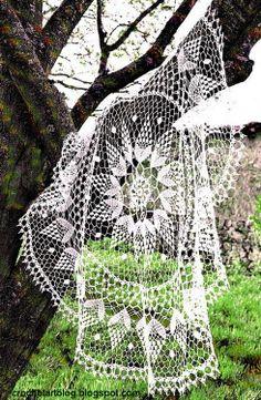 Crochet Art: Lace Tablecloth - Crochet Lace Tablecloth- diagrams
