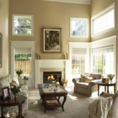 Love the paint color for living room. Ben Moore 1060 Blanched Almond - Regal Matte