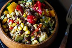 10 Delicious and Healthy Veggie Salads Recipes: Long Weekend Grilled Veggie Salad Grilled Vegetable Salads, Grilled Vegetables, Vegetable Pasta, Fruit Salads, Raw Food Recipes, Salad Recipes, Healthy Recipes, Eating Raw, Healthy Eating