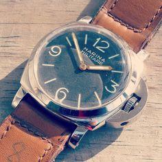 #p109 1950's Panerai 6152 with Rolex Movement