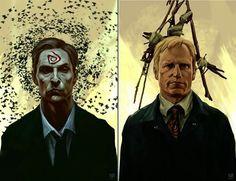 True Detective Rust & Marty Prints by Nagy Norbert