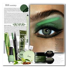 """Green Kinds of Beautiful!"" by bliznec ❤ liked on Polyvore featuring beauty, Lancôme, Rimmel, Marc Jacobs, Caudalíe, NYX, Chanel, Origins, ORLY and Giorgio Armani"