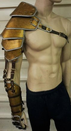Custom crafted leather full arm armor by SharpMountainLeather, $174.99 -- I like the way it's put together, but I'd do it in steel or brass