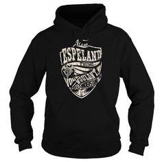 I Love ESPELAND Last Name, Surname Tshirt T shirts