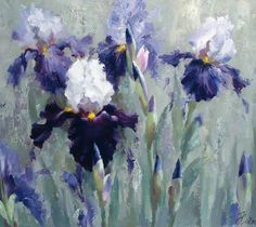 New flowers painting acrylic irises ideas Iris Painting, Acrylic Painting Flowers, Abstract Flowers, Watercolor Flowers, Watercolor Paintings, Iris Art, Oil Painting Supplies, Iris Flowers, Arte Floral