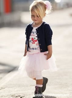 3pcs Kid Toddler Baby Girl Top Coat+Tshirt+Skirt Tutu Outfit Dress Clothes 0-5T