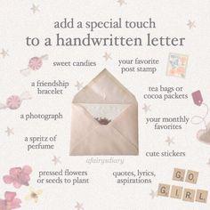 Pen Pal Letters, Love Letters, Letters Mail, Snail Mail Pen Pals, Snail Mail Gifts, Envelope Art, Handwritten Letters, Diy Décoration, Happy Mail
