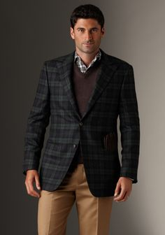 Navy Plaid Sportcoat by Rochester's own Hickey Freeman.