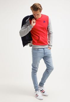 dc8704566b3f HELIOR - Sweatshirt - pur rouge light heather grey ultra blue - Zalando.de