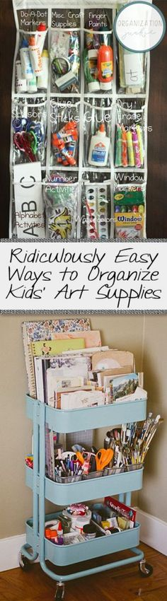 Ridiculously Easy Ways to Organize Kids' Art Supplies
