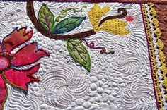 amazing quilting, great colours