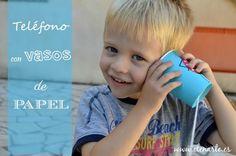 Telefono con vasos de papel