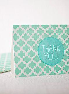 smock. spring letterpress card