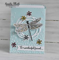 AEstamps a Latte...: Dragonfly Dreams for a Wonderful Friend