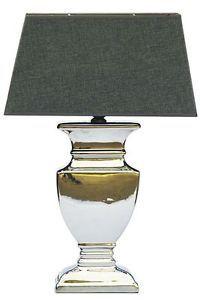 59 CM Table Lamp Grey Shabby Chic Table Desk Lamp Silver Ceramic Lamp | eBay