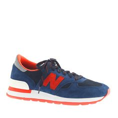 The 990 was introduced as a running shoe way back in 1982 and since we're such big fans of the timeless style, we teamed up with New Balance and created this exclusive style (and first-ever collaboration on this shoe) with bright suede and a Vibram® rubber outsole. <ul><li>Suede upper.</li><li>Cotton lining.</li><li>Rubber sole.</li><li>USA.</li></ul>