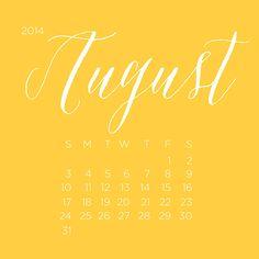Free August Desktop Calendar #free #calendar #august #desktopcalendar