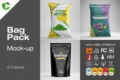 Ad: Bag Pack - Mock-Up by Colatudo Store on Bag Pack - mock-up OVERVIEW - 1 Food bag with 4 finishes - 1 Snack bag with 4 finishes - 1 Foil bag with 4 finishes - File size Business Illustration, Pencil Illustration, Business Brochure, Business Card Logo, Customised Mugs, Mockup Templates, Design Templates, Creative Sketches, Paint Markers