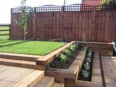 railway sleeper landscaping ideas garden design retaining wall ideas wooden steps