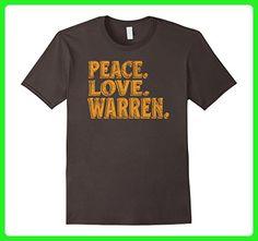 Mens Awesome Retro Peace Love Warren Michigan Tshirt Small Asphalt - Retro shirts (*Amazon Partner-Link)
