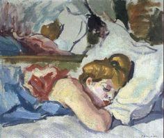 Charles Camoin - Jeune fille endormie