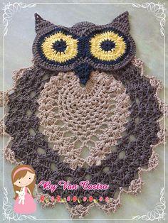 Artesanato com Carinho e Dedicação....: Tapete Coruja em croch