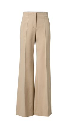 Neutral flared trousers | Dorothee Schumacher