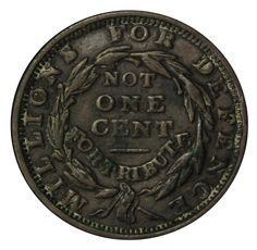 1837 Not One Cent Reverse