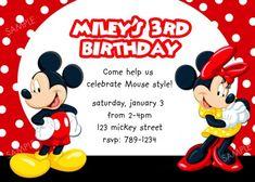Printable Mickey & Minnie birthday invitation