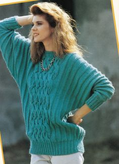 Vintage Knitting Pattern Instructions to Make a Ladies Cable Jumper Sweater by LucysPatternBox on Etsy