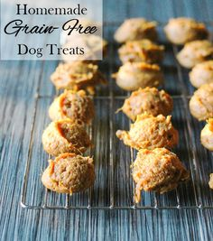 Homemade Grain-Free Dog Treats | www.fromcalculustocupcakes.com