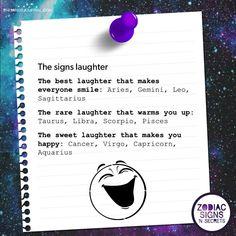 The Signs Laughter Zodiac Signs Chart, Zodiac Sign Traits, Zodiac Signs Sagittarius, Zodiac Star Signs, Zodiac Horoscope, My Zodiac Sign, Astrology Signs, Zodiac Facts, Taurus