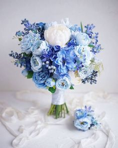 Blue wedding bouquets and flowers flowers bouquet 40 Chic Blue Wedding Bouquet Ideas Blue Flowers Bouquet, Peony Bouquet Wedding, White Wedding Bouquets, Blue Bridal Bouquets, Gardenia Bouquet, Boquet, March Wedding Flowers, Baby Blue Weddings, Baby Blue Wedding Theme
