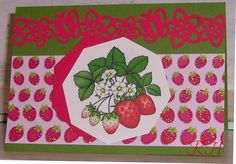 Erdbeerkarten mit Digi-Bild von Beccy's Place.com