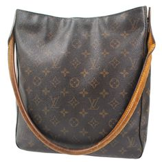 4e38ab8c52623 100% AUTHENTIC LOUIS VUITTON LOOPING GM SHOULDER BAG MONOGRAM FREE SHIP  RB4153s